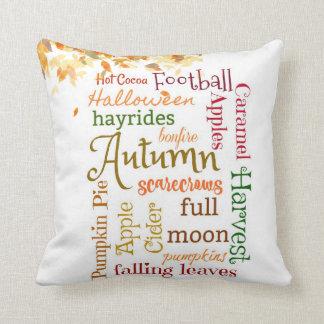 Almofada Comemore o travesseiro decorativo do outono