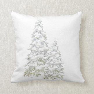 Almofada Comemore o travesseiro decorativo nevado da árvore