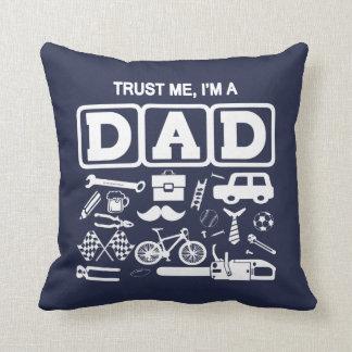 Almofada Confie-me, mim são um pai