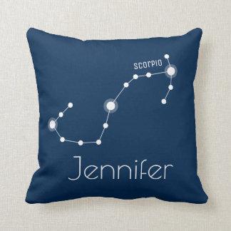 Almofada Constelação personalizada do zodíaco da Escorpião