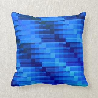 Almofada Construções no azul abstrato moderno da noite