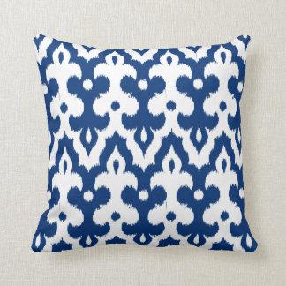 Almofada Cor damasco, azuis cobaltos & branco marroquinos