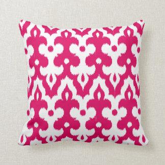 Almofada Cor damasco marroquina do azulejo, cor-de-rosa
