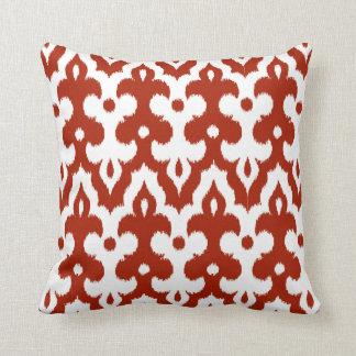Almofada Cor damasco marroquina do azulejo, vermelho escuro