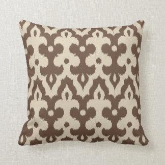 Almofada Cor damasco, Taupe e bege marroquinos do azulejo