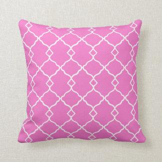 Almofada Cor-de-rosa-Branco-Geométrico-Lombar-Quadrado