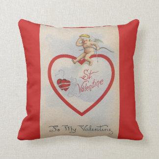 Almofada Coração 1909 dos namorados do St. do vintage com