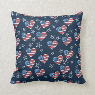 Almofada Coração da bandeira americana