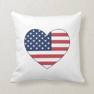 Almofada Coração da bandeira dos Estados Unidos