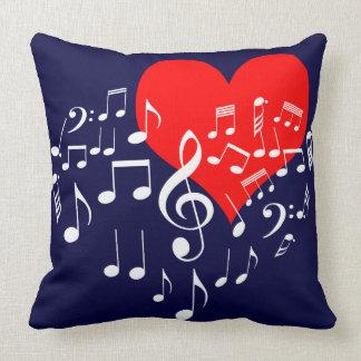 Almofada Coração do canto um--um-amável
