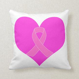 Almofada Coração e design da caridade do cancro da mama da