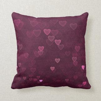 Almofada Corações cor-de-rosa de Bokeh