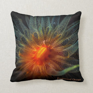 Almofada Coral macio colorido, flores marinhas