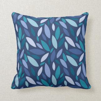 Almofada Cores azuis geométricas do seafoam das formas de