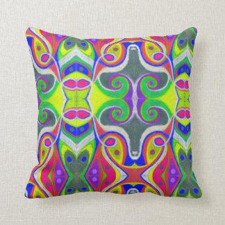 Almofada Cores corajosas do travesseiro decorativo   do