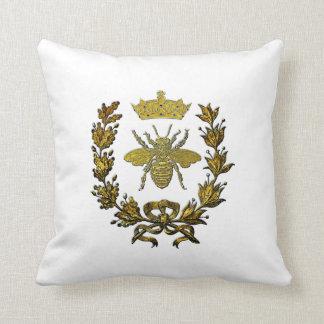 Almofada Coroa da grinalda da abelha do ouro & sua cor
