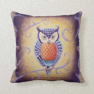 Almofada Coruja pelo travesseiro decorativo do luxuoso de
