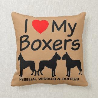 Almofada Costume eu amo meu travesseiro da raça do cão de