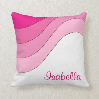 Almofada Costume Tonal do rosa da onda personalizado