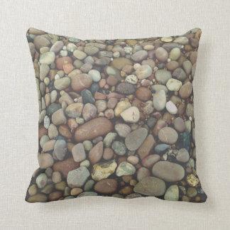 Almofada Coxim 41 cm x 41 cm do lance da foto das pedras