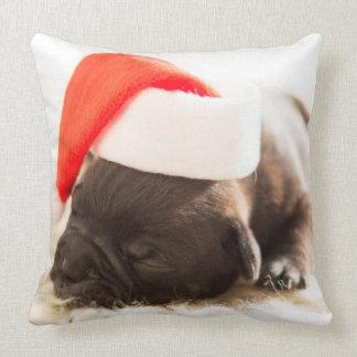 Almofada Coxim adorável do Natal do filhote de cachorro