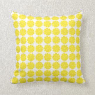 Almofada Coxim amarelo brilhante da fatia dos citrinos do