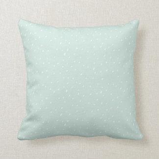 """Almofada Coxim azul 16"""" do travesseiro decorativo da neve x"""