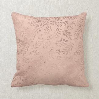 Almofada Coxim cor-de-rosa 41 cm x 41 cm do lance da folha