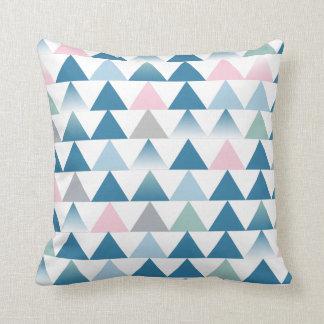 Almofada Coxim cor-de-rosa azul dos triângulos