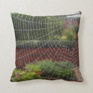 Almofada Coxim da arte da foto da Web de aranhas