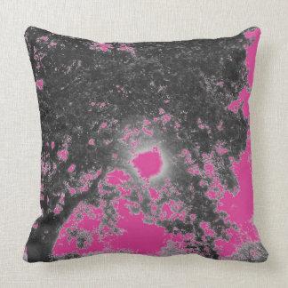 Almofada Coxim da árvore do preto do rosa quente