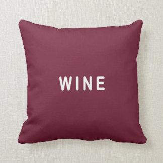 Almofada Coxim da escolha engraçada do vinho ou da cerveja