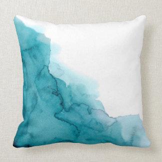 Almofada Coxim da pintura do Watercolour do azul de oceano