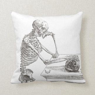 Almofada Coxim de esqueleto melancólico do lance