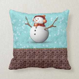 Almofada coxim do boneco de neve