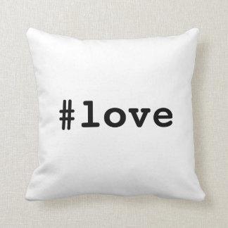 Almofada coxim do hashtag do #love você merece o AMOR