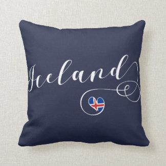Almofada Coxim do lance do coração de Islândia, islandês