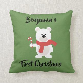 Almofada Coxim do Natal do urso polar