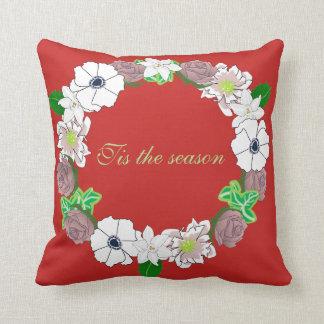 Almofada Coxim do Natal que caracteriza uma grinalda floral