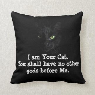 Almofada Coxim do orgulho do gato preto!