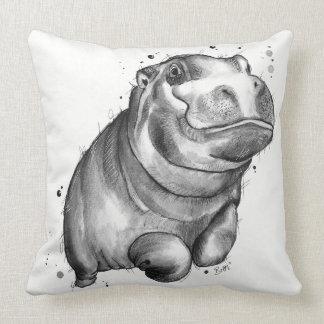 Almofada Coxim do vôo do hipopótamo