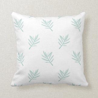 Almofada Coxim em folha de palmeira do design da cerceta