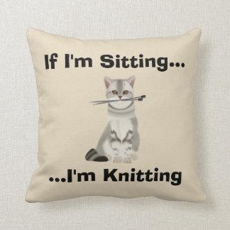 Almofada Coxim engraçado dos Knitters