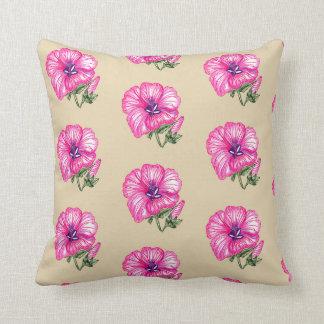 Almofada Coxim floral cor-de-rosa