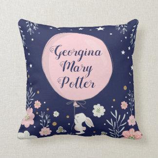 Almofada Coxim floral cor-de-rosa da decoração do berçário