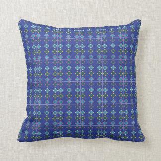 Almofada Coxim modelado floral azul