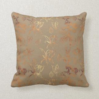 Almofada Coxim modelado foxglove da folha de ouro