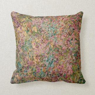 Almofada Coxim na turquesa, no rosa e no ouro