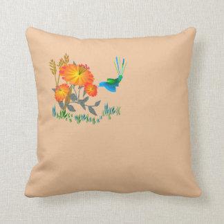 Almofada Coxim oriental do lance da flor do pássaro
