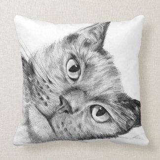 Almofada Coxim original bonito do lance do desenho do gato